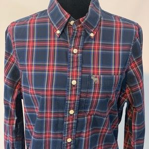 "Abercrombie&Fitch ""muscle fit"" men's plaid shirt"
